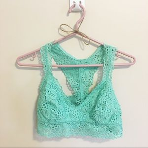 Aerie Teal Lace Bralette